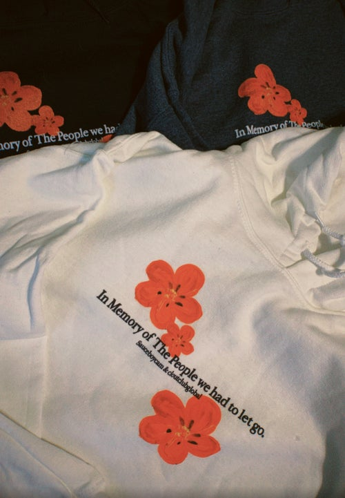 Image of 'In Memory of' CCG Hoodie by Sauceboycam (White)