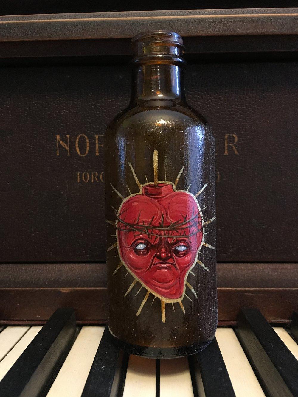 Sacred Heart Vintage Bottle