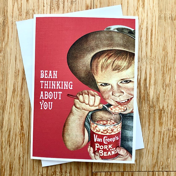 Image of  Bean thinking about you - Greeting Card  - By David Holub