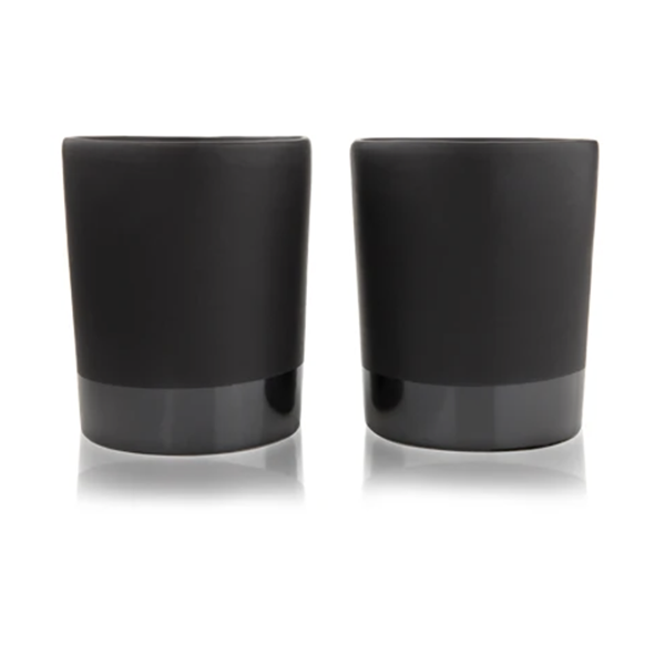 Image of BLACK STONEWARE TUMBLERS