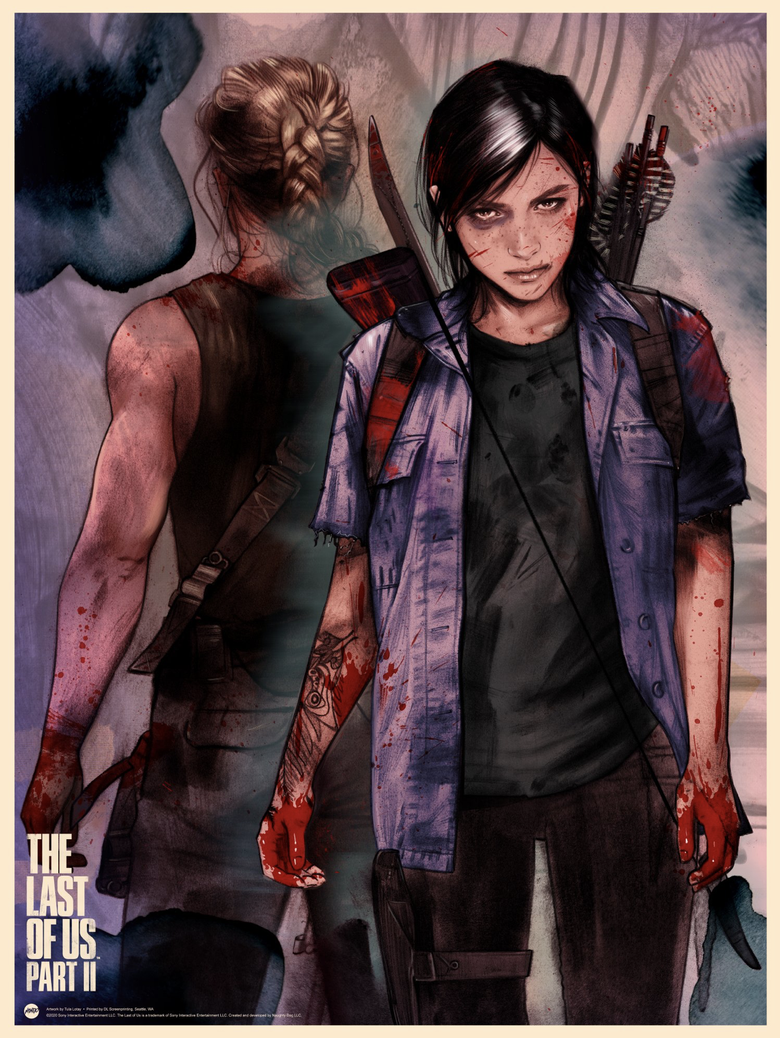 Image of THE LAST OF US II ELLIE MONDO PRINT