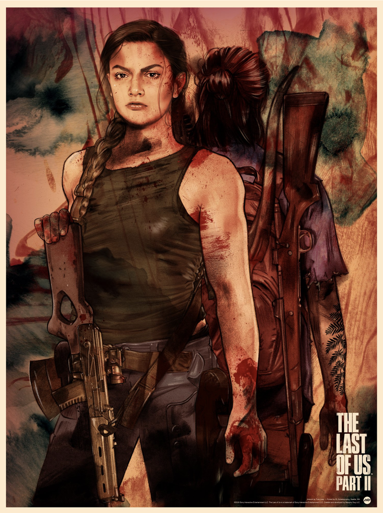 Image of THE LAST OF US II ABBY MONDO PRINT