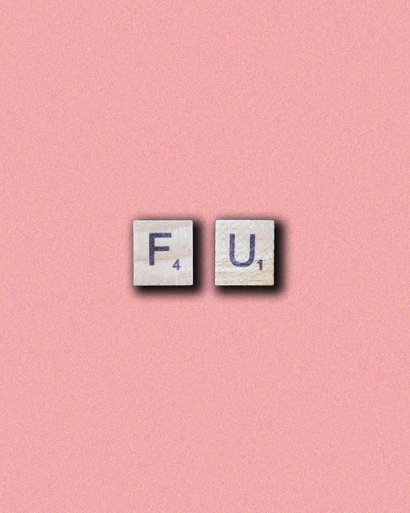 Image of Personalised Scrabble Letter Wooden Stud Earrings