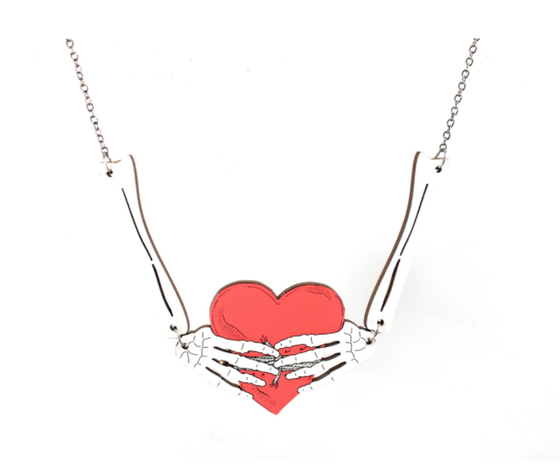 Image of Bone Heart Necklace