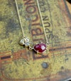 Ruby and grey diamond necklace