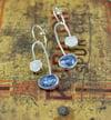 Tanzanite and moonstone earrings