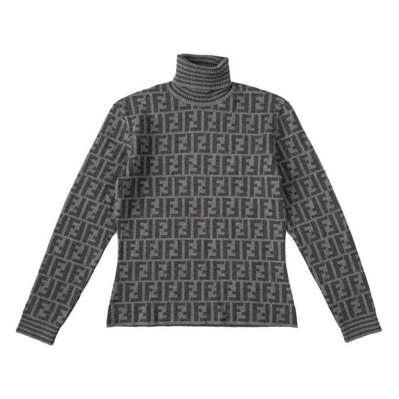 Image of Fendi Zucca Roll Neck Sweater