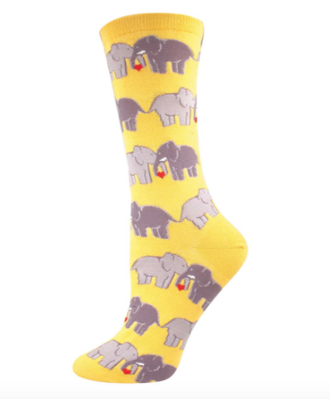 Image of Elephant Love Crew Socks