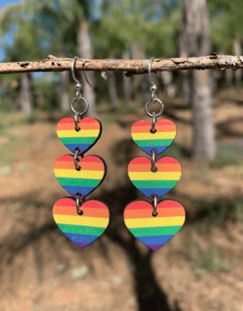 Image of Rainbow Love Earrings