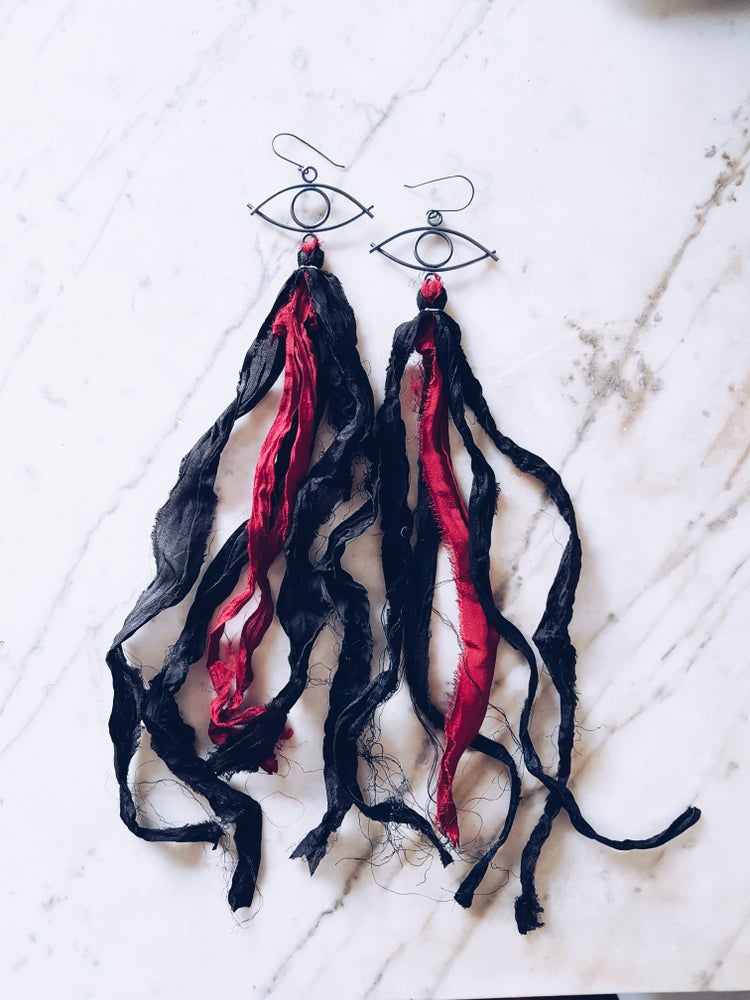 Image of Scarlet Eye Earrings