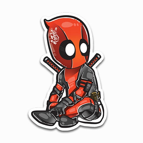 Image of Baby Deadpool Sticker