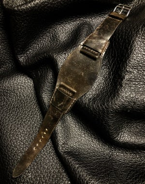 Image of Antiqued Shell Cordovan Bund strap - Dark Cognac
