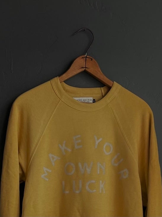 Image of MAKE YOUR OWN LUCK CREWNECK (LIMITED RUN)