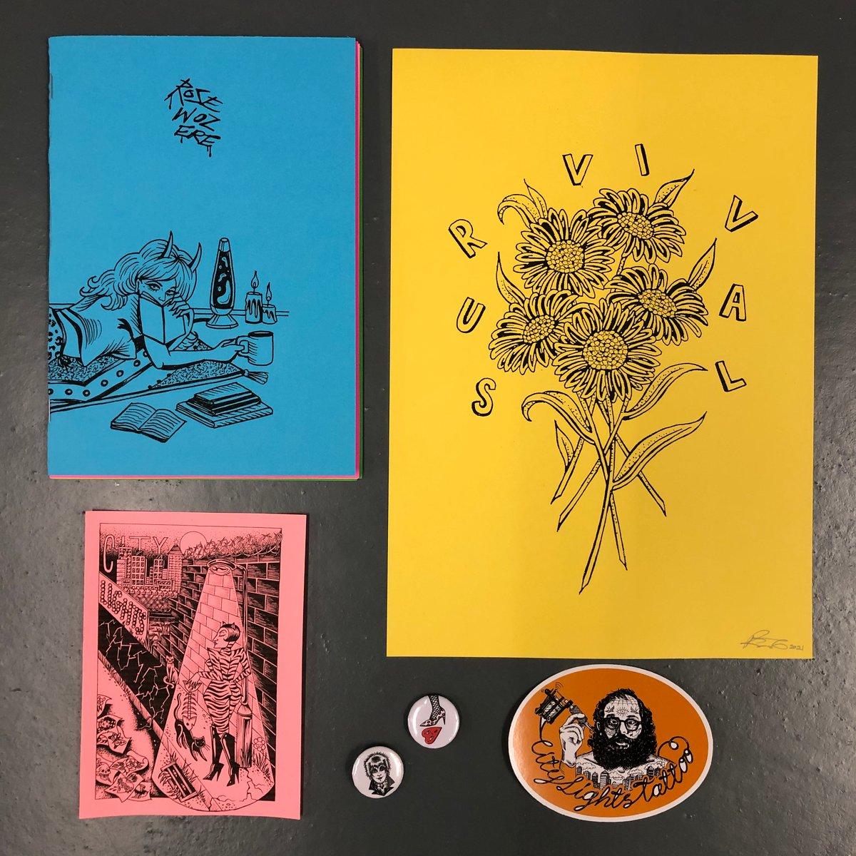 Image of 'Rose woz ere' zine pack