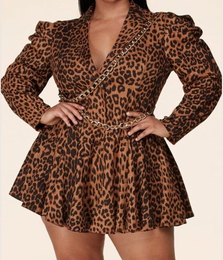 Image of Plus Leopard Mini Dress