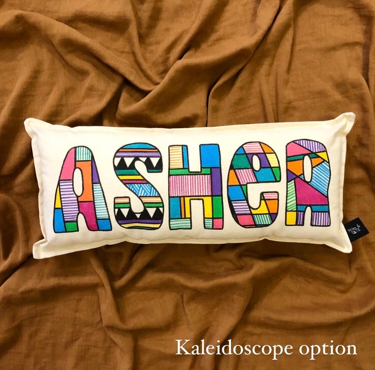 Image of Rainbow/ombré Personalised Cushion 1-9 letters
