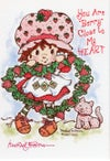 Strawberry Shortcake Heart Wreath Matted Print