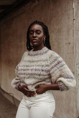 Image of Knitting Kit Kelowna Sweater X Mohair/Merino   wool skeins (+ more colours)