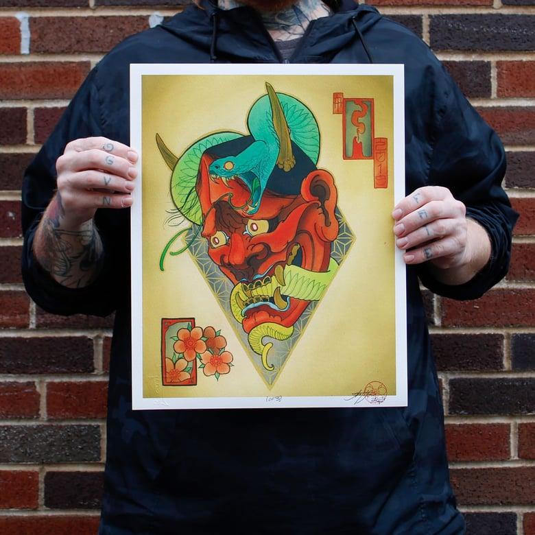 "Image of ""Jared's Hannya"" 11""x14"" (print)"