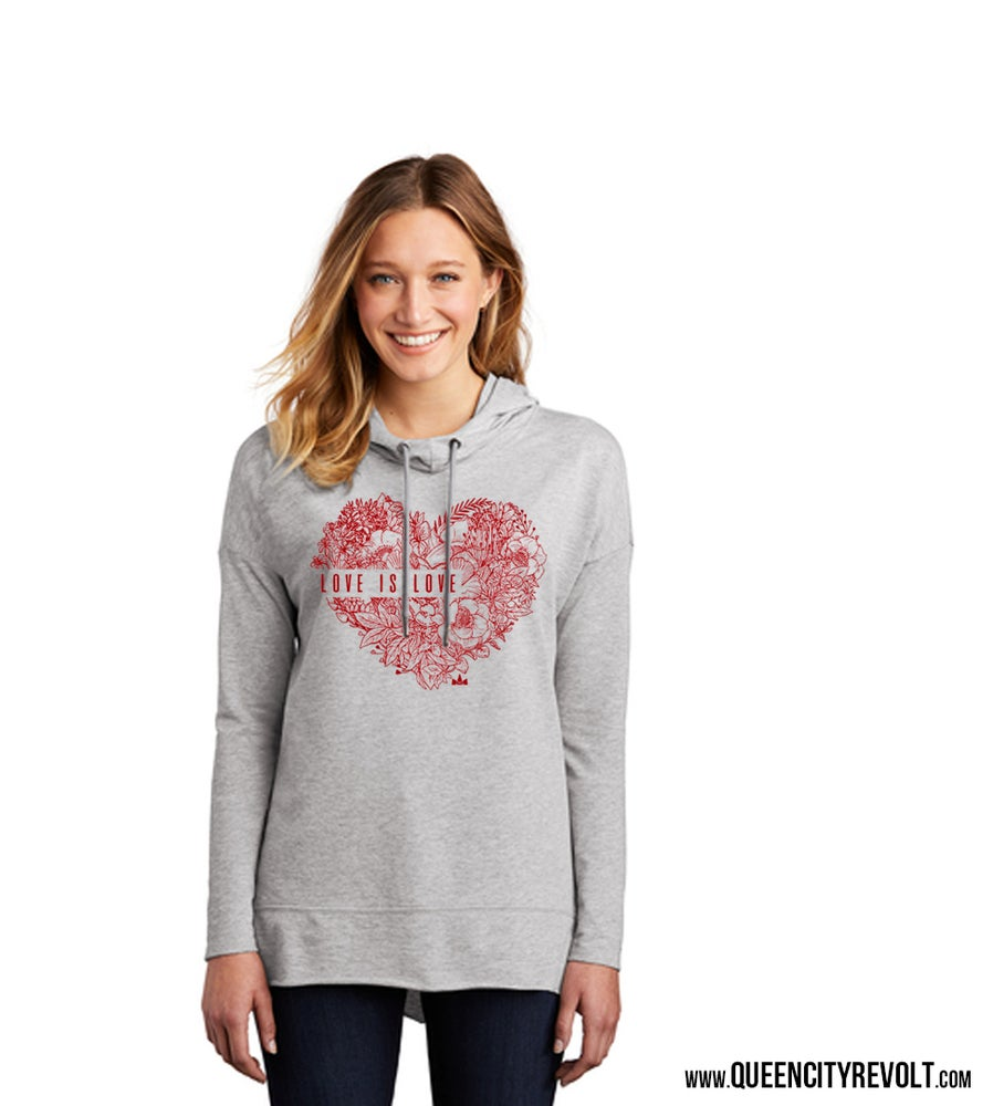 Image of Love is Love, Women's Cowl Neck Longsleeve Tee