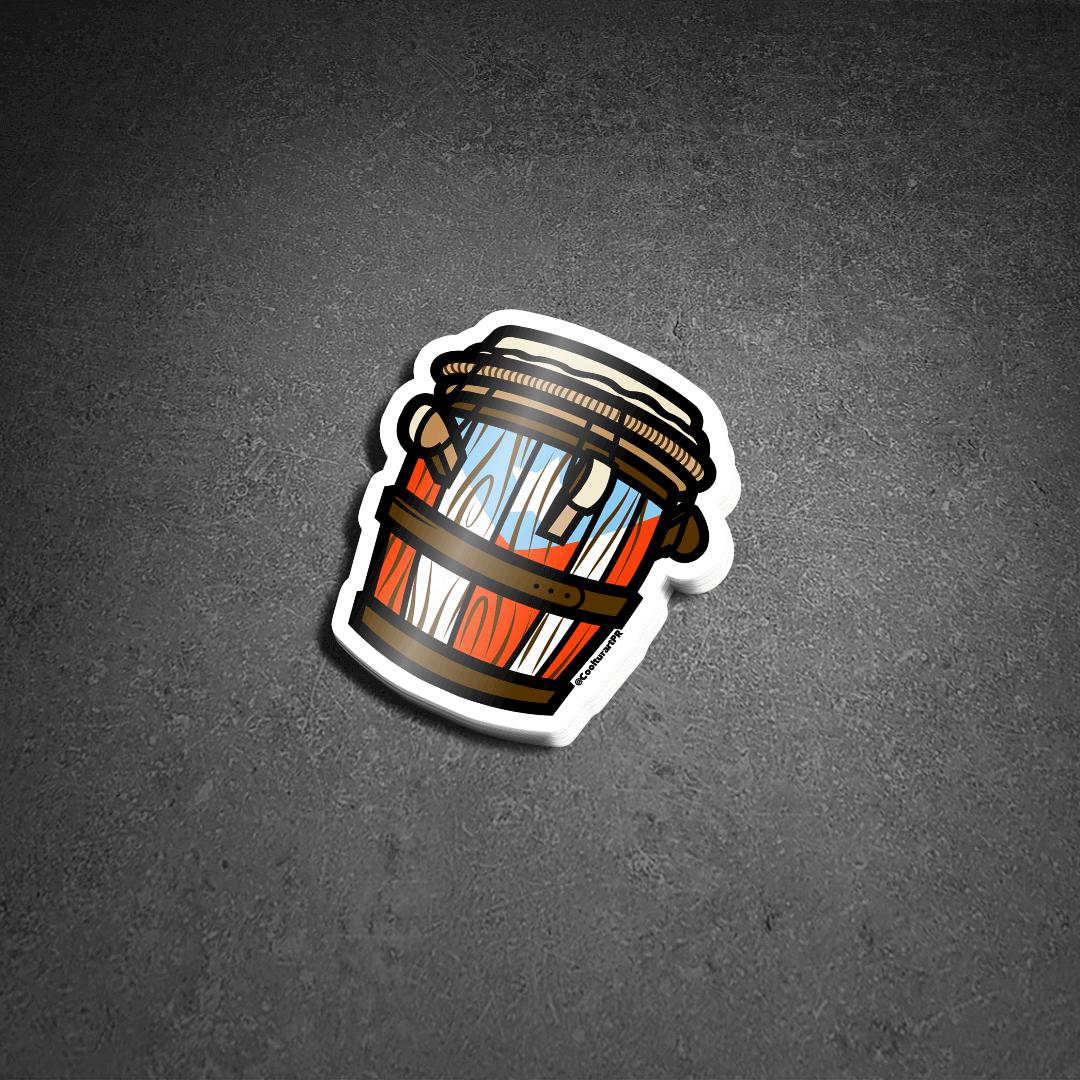 Barril de Bomba (Sticker Premium)