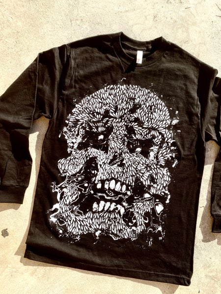 Image of Glitch Skull Long Sleeve
