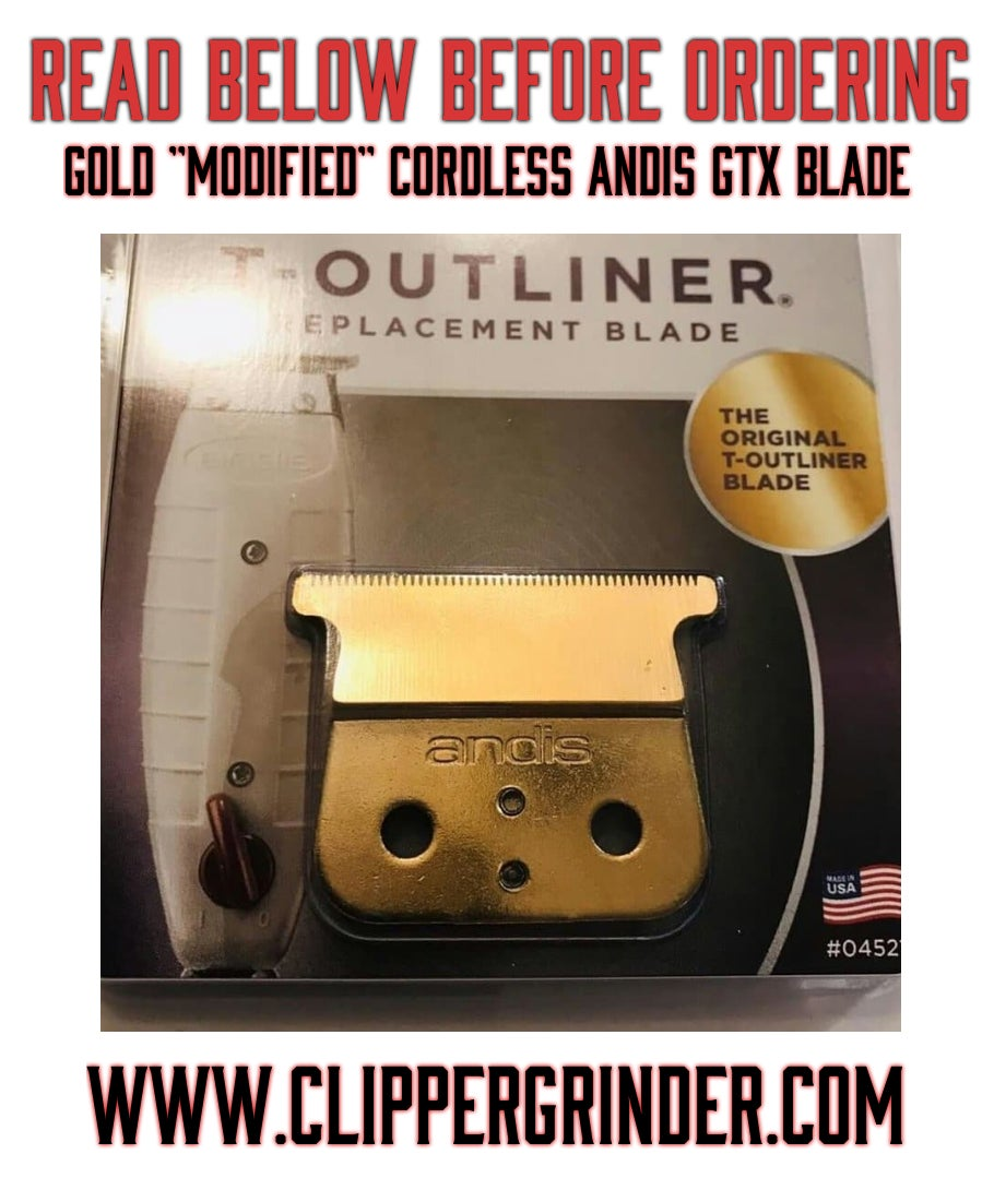 """Image of (3-5 Week Delivery) Gold Andis GTX W/""""Modified"""" Blade"""