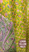 •Irora• wrap: vintage silk sari collection - green/yellow multis