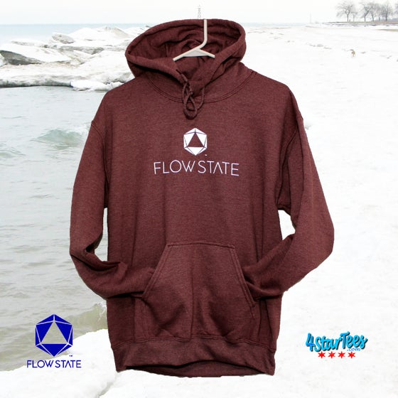 Image of FLOW STATE No-Zip Reflective Hoodie - Heather Maroon