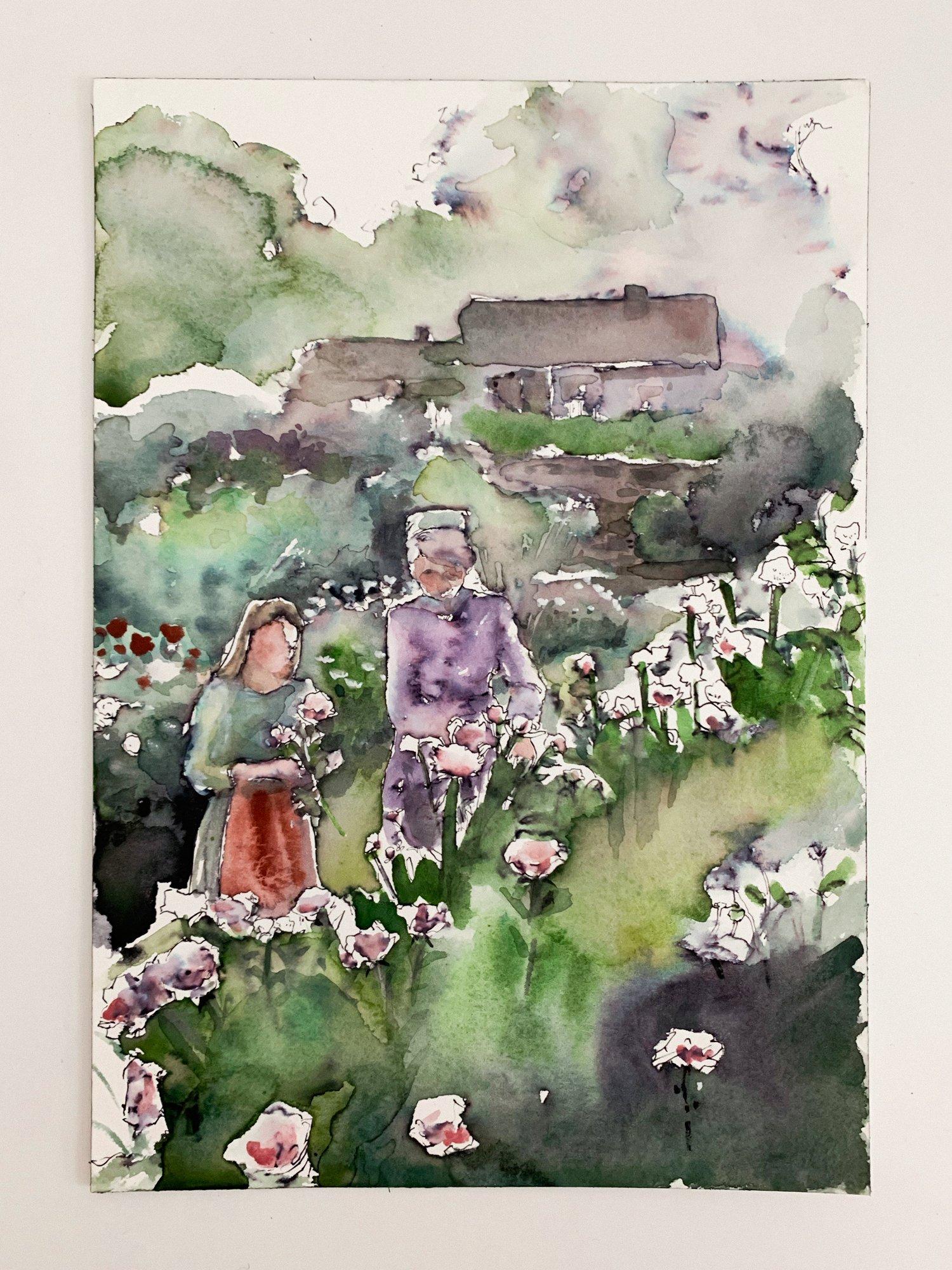 Agnes-Cecile garden landscape study