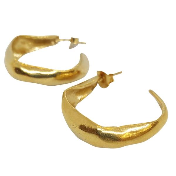Image of Moscu hoop earrings