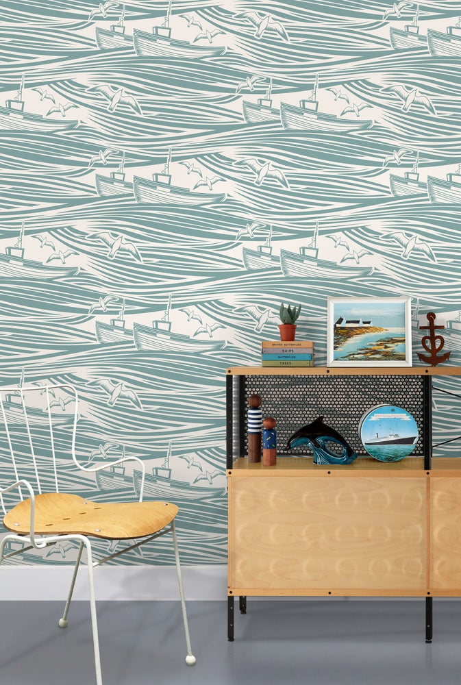 Image of Whitby Wallpaper - High Tide