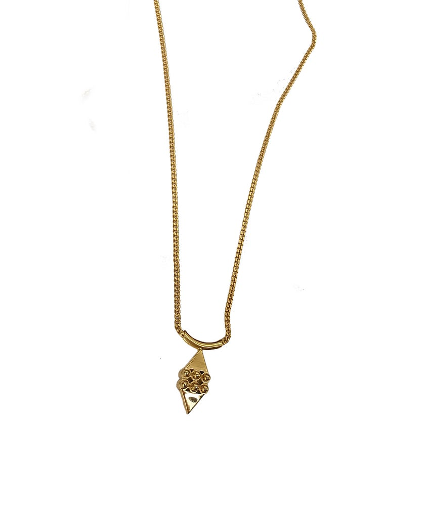 Image of Microdot#1 necklace 14kt