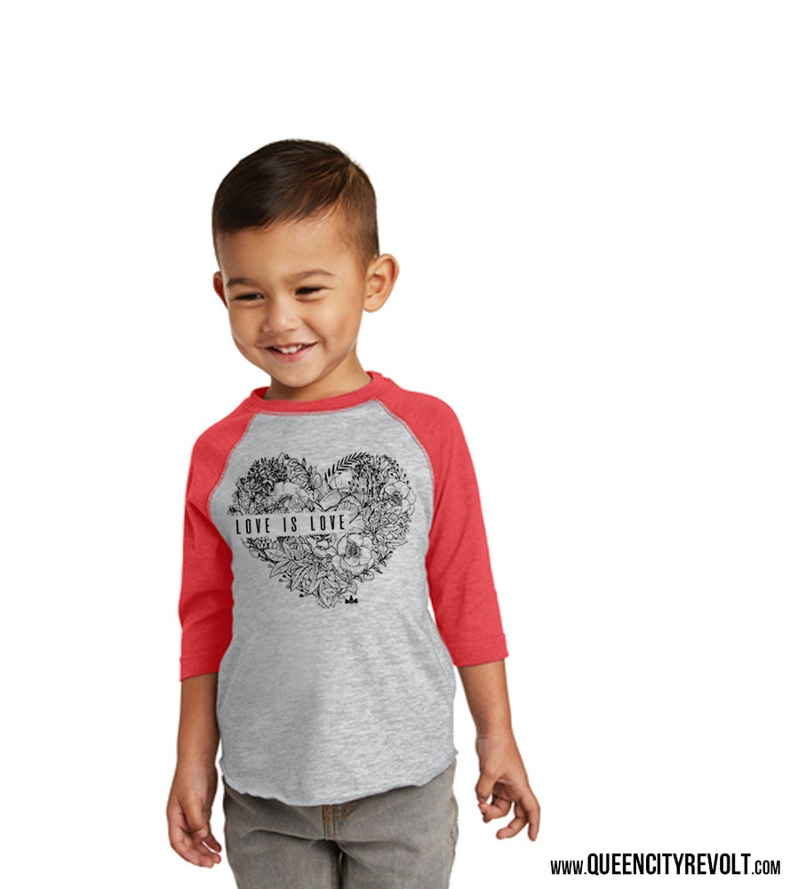 Image of Love is Love, Toddler 3/4 Tee