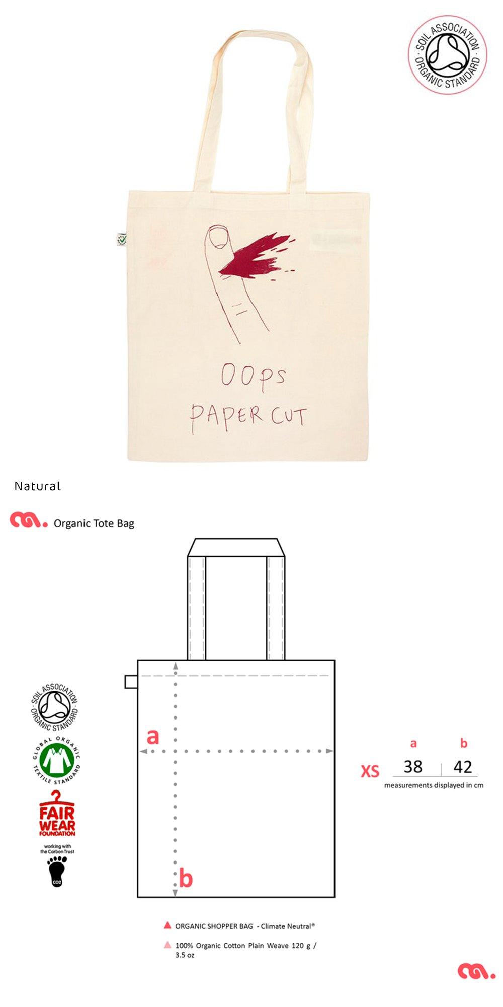 Paper Cut Tote Shopping Bag (Organic)
