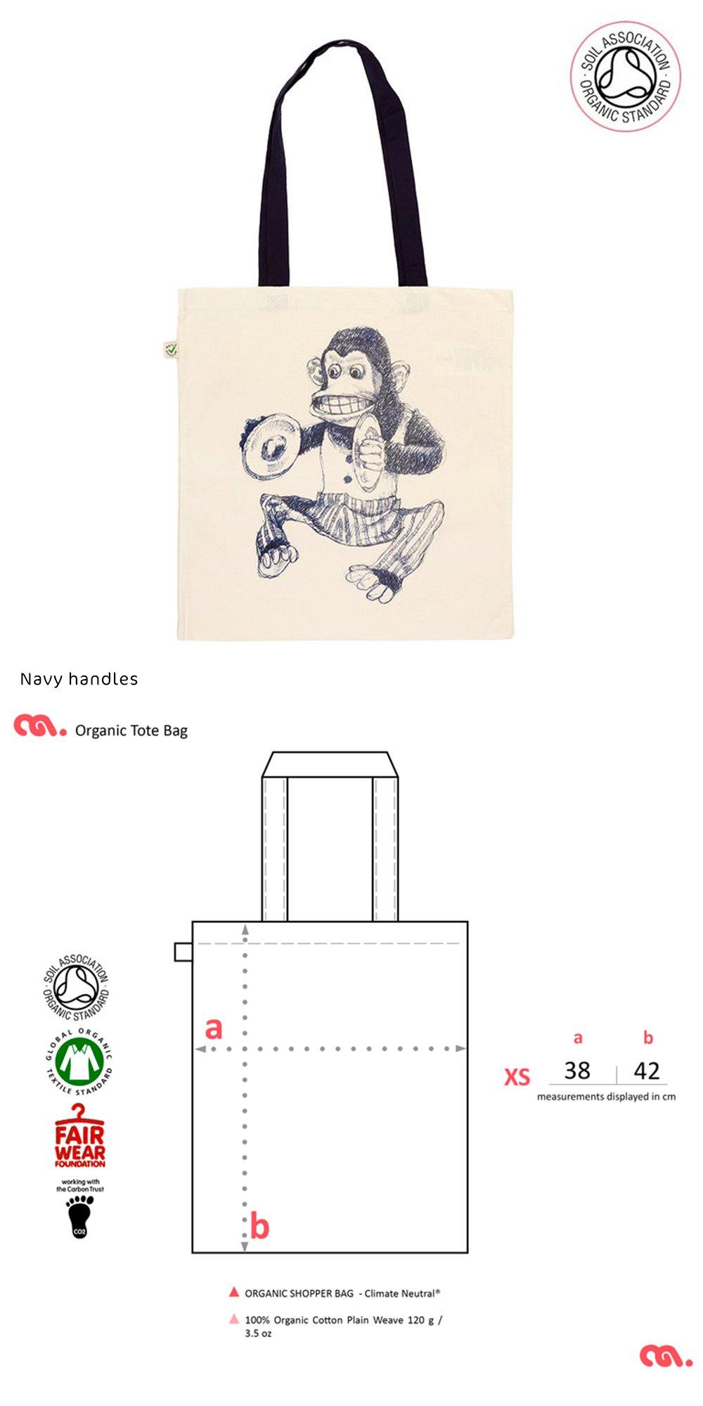 Monkey Tote Shopping Bag (Organic)