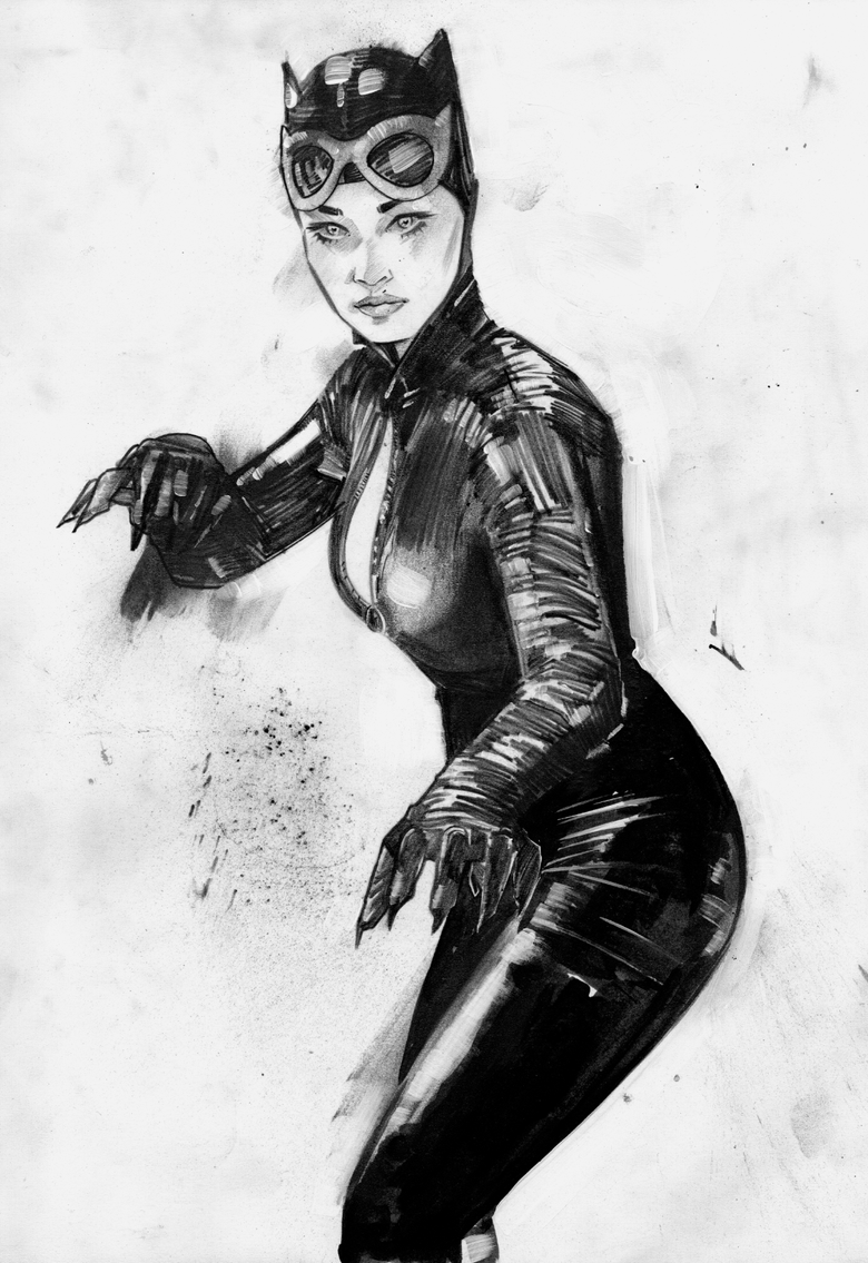 Image of ORIGINAL ART - CATWOMAN