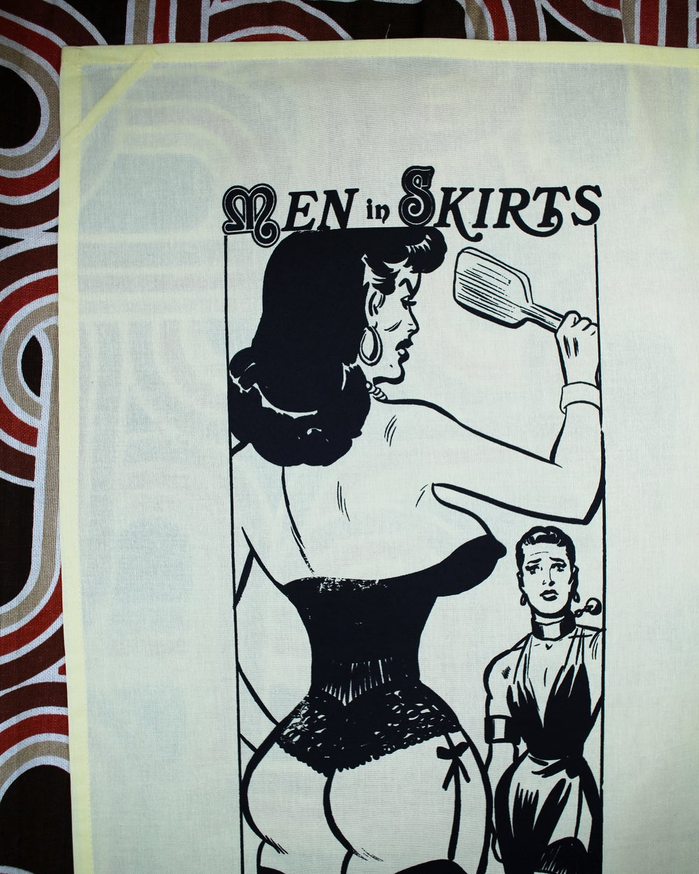 """MEN IN SKIRTS"" TEA TOWEL"