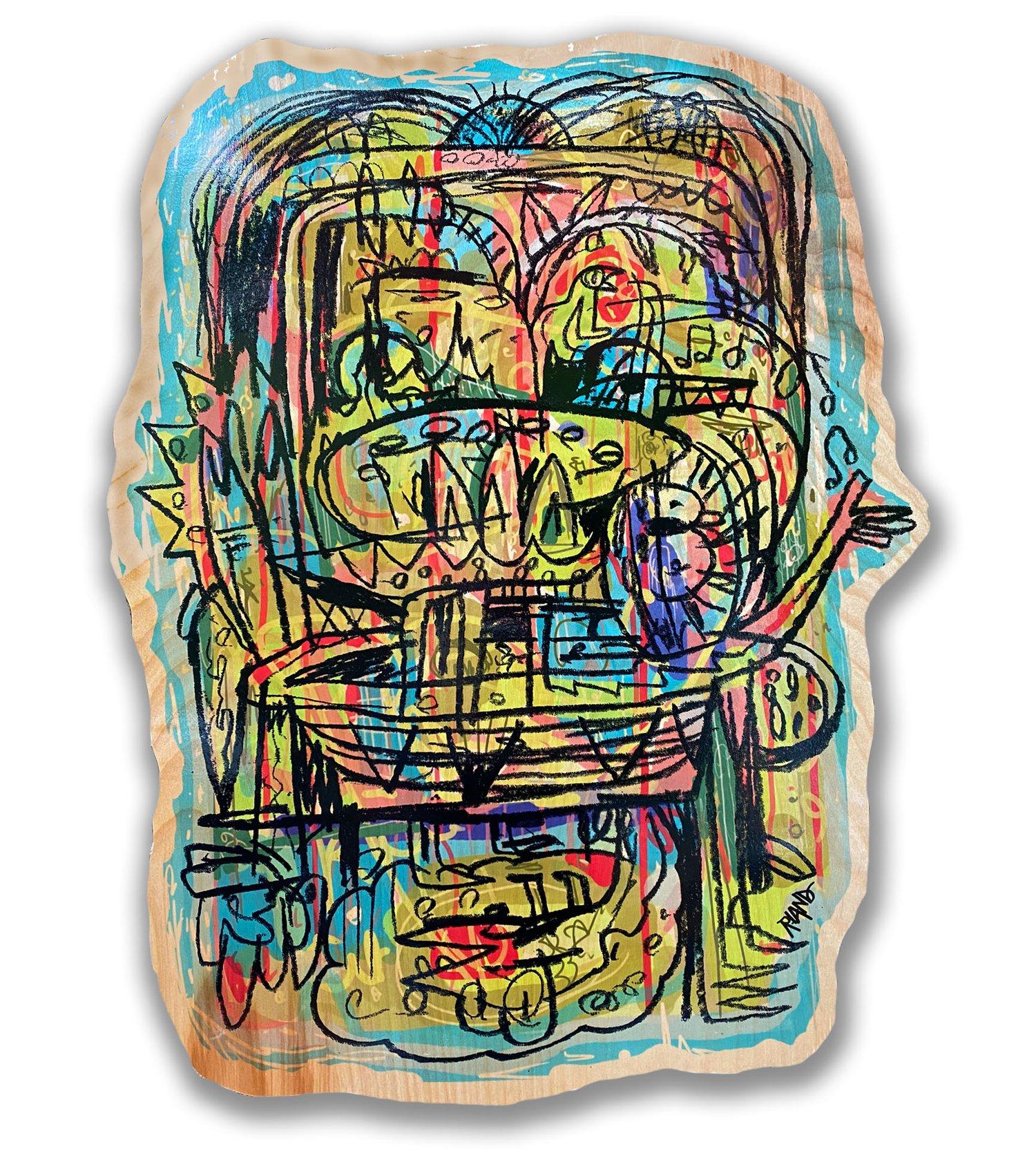 Image of Sketchbook Series #2  Print on Wood-Cutout Version