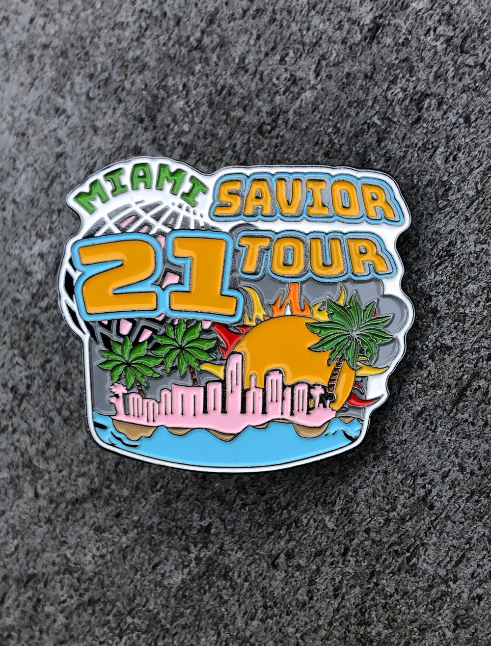 Image of Savior tour Miami pin