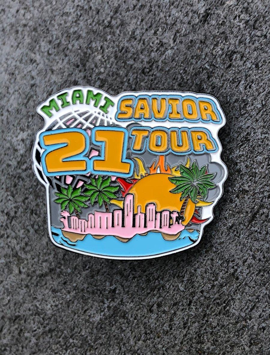 Image of Savior tour Miami pin