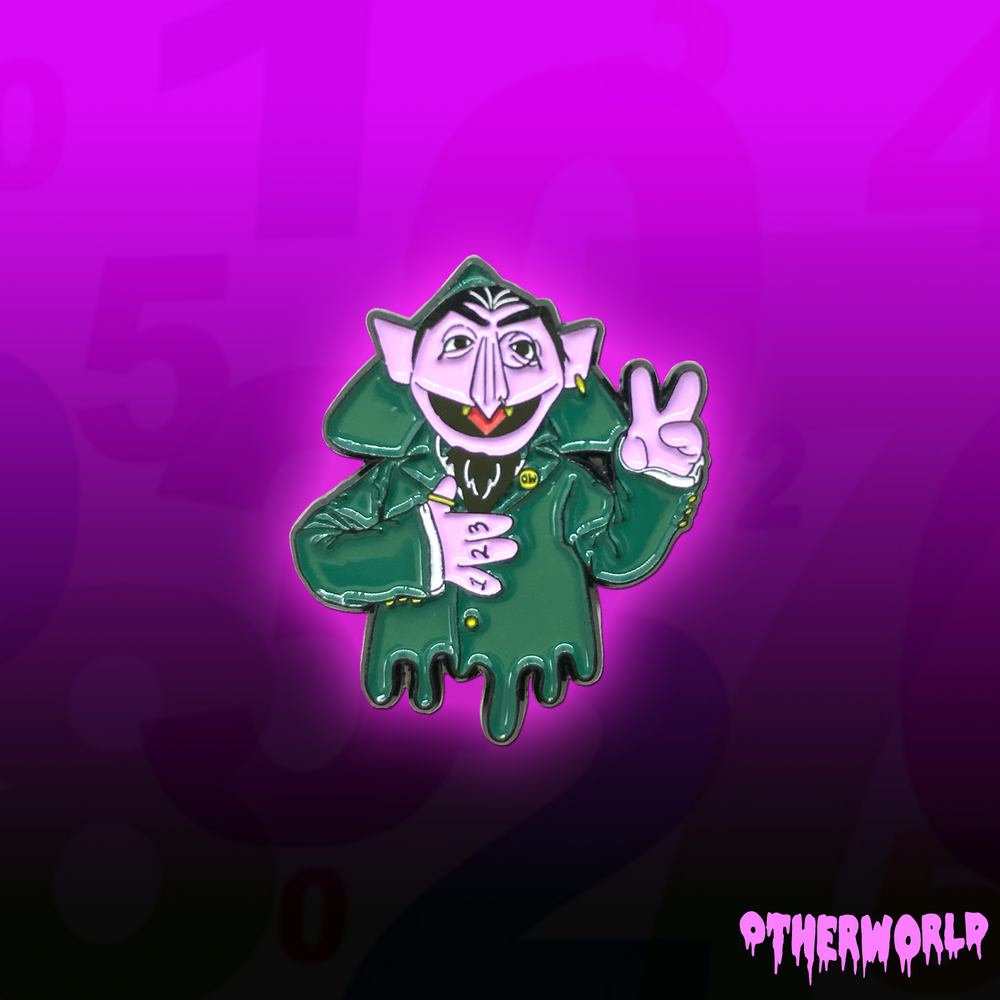 Image of Count Drip pin
