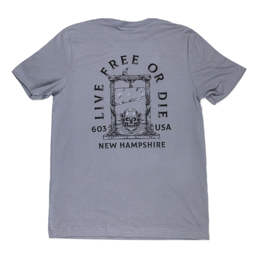 Image of Live Free or Die Skull T-shirt- Storm Grey