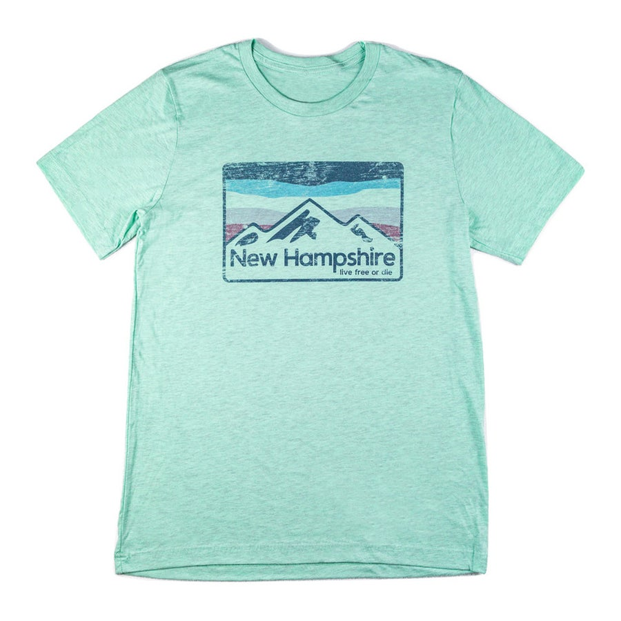 Image of NH Vintage Mountains T-shirt- Teal