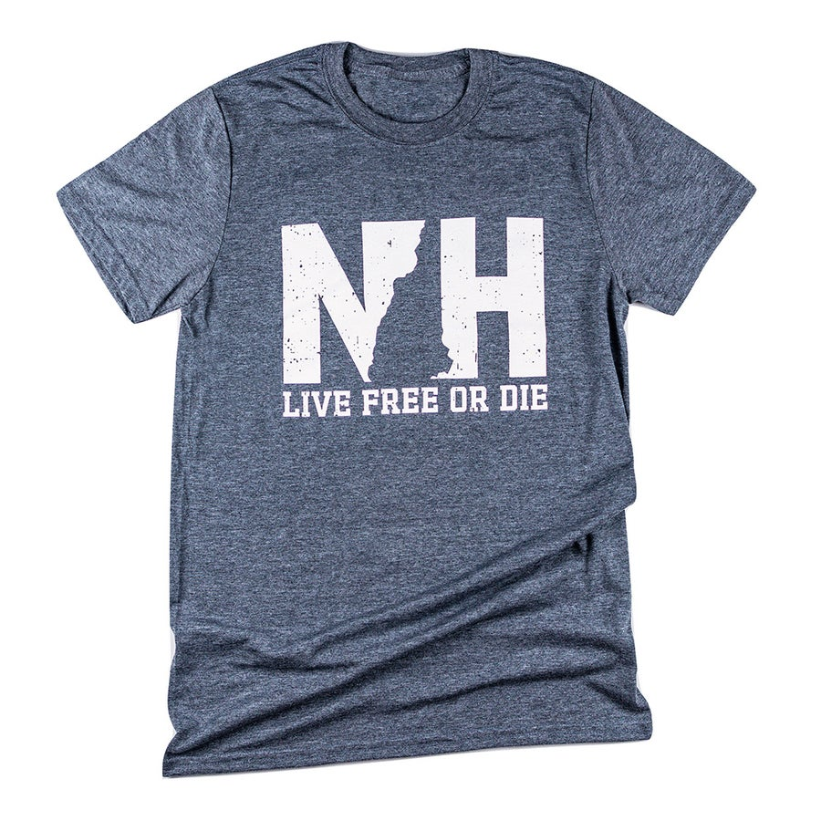 Image of NH logo Unisex T-shirt- Dark Heather Grey