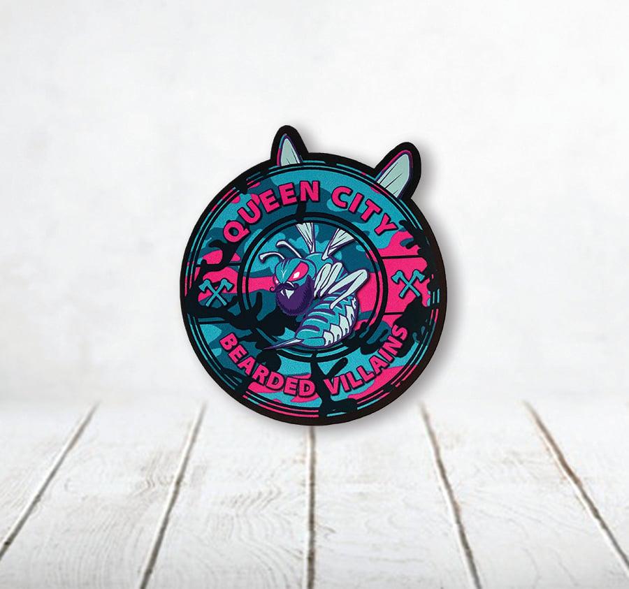 Image of Queen City Villains Camo Sticker