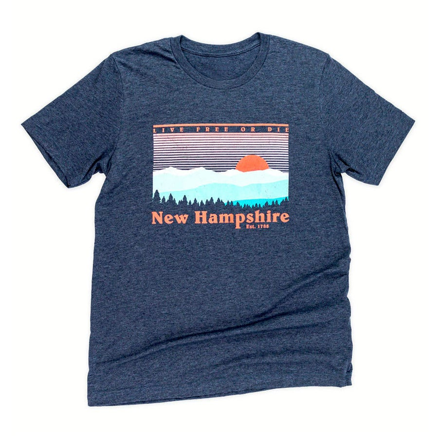 Image of NH Skyline T-shirt- Heather Navy