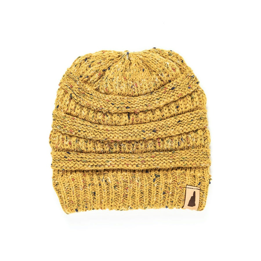 Image of Speckled Knit Beanie- Wheat