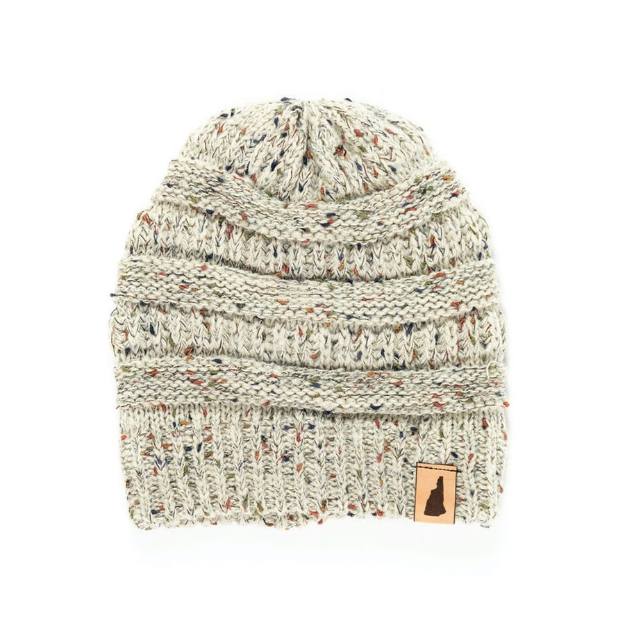 Image of Speckled Knit Beanie- Oatmeal