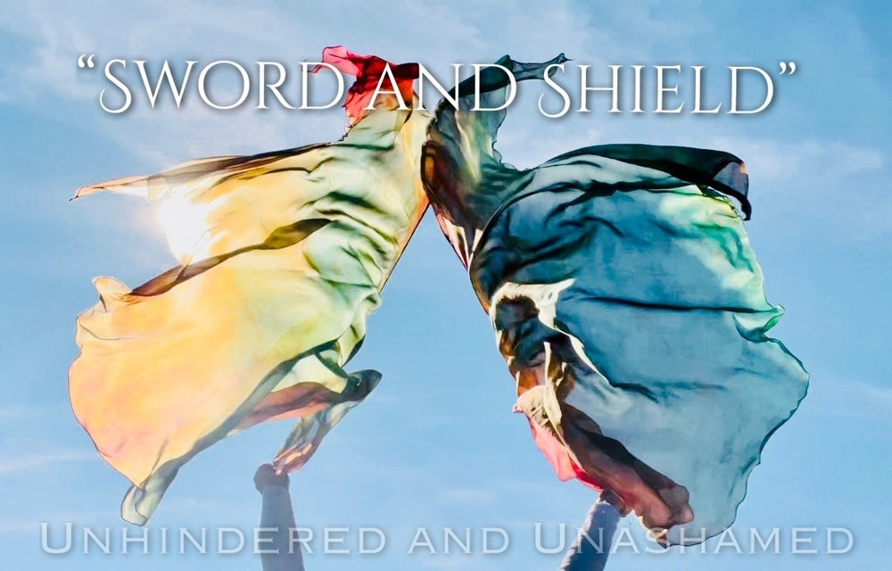 "Image of NEW! ""Sword and Shield"" Worship Flags"